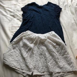 ジーユー(GU)の爽やかコーデ 150 女子♡(スカート)