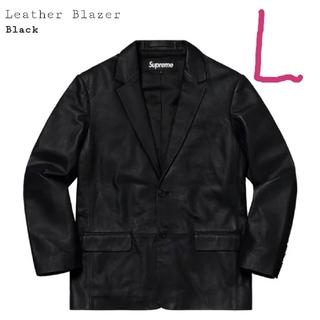 Supreme - supreme leather Blazer  black L レザージャケット