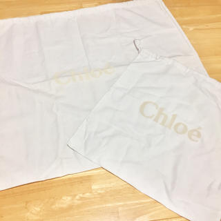 クロエ(Chloe)のChloe クロエ 保存バック 大小二枚セット(エコバッグ)