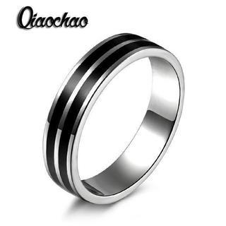 ブラックダブルラインリング(リング(指輪))