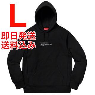 シュプリーム(Supreme)の本日発送 L Box Logo Hooded Sweeatshirt 黒(パーカー)