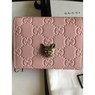 3b736ecb5cce グッチ(Gucci)の2019年新作 GUCCI財布 キャット グッチ シグネチャー カードケース(