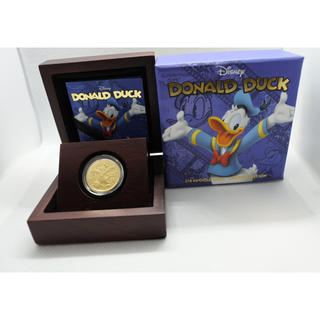 ディズニー(Disney)の2014年 ニウエ Niue ディズニー  ドナルドダック  金貨1/4オンス(貨幣)