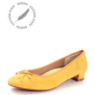 ランダ(RANDA)の新品 randa バレエシューズ イエロー 22cm リボン(バレエシューズ)