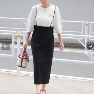 ノーブル(Noble)の完売 NOBLE ストラップサロペットスカート(ひざ丈スカート)