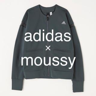 アディダス(adidas)の【お値下中】adidas × moussy ジャケット(ノーカラージャケット)
