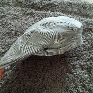 バーバリー(BURBERRY)のブラックレーベルバーバリー黒チェック(ハンチング/ベレー帽)