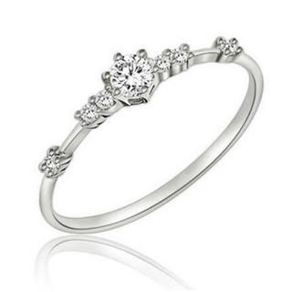 AAAランク ダイヤモンドcz シルバー リング 指輪(リング(指輪))