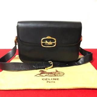 498b4f1bac14 セリーヌ(celine)の希少品‼ セリーヌ 馬車 金具 オールレザー ショルダーバッグ