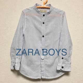 ザラ(ZARA)の【期間限定値下げ】ZARA BOYS 青ストライプシャツ110(ブラウス)