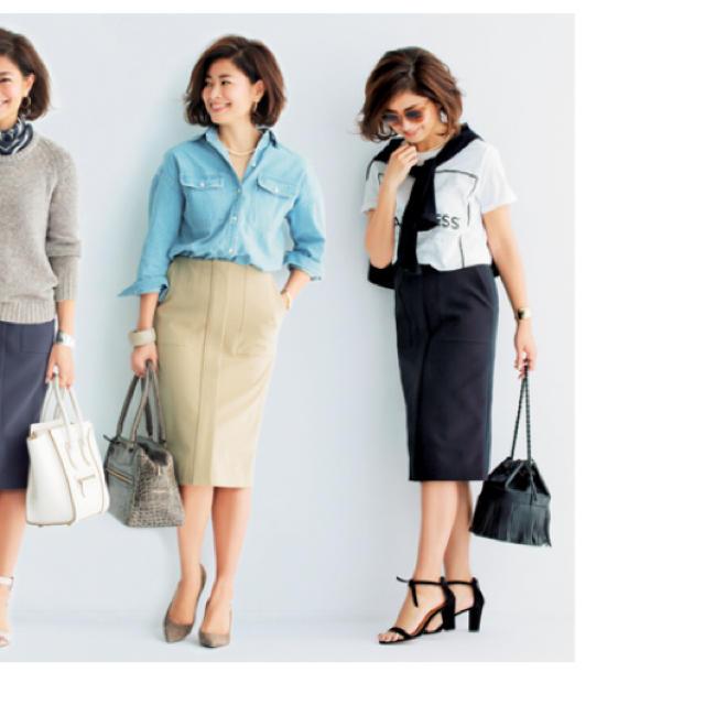 Demi-Luxe BEAMS(デミルクスビームス)の Demi-Luxe BEAMS×三尋木奈保 トリアセダブルクロスタイトスカート レディースのスカート(ひざ丈スカート)の商品写真