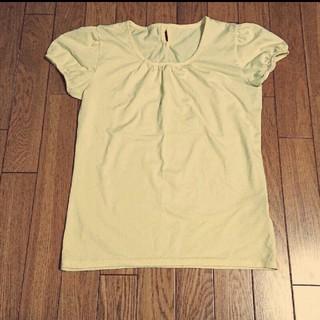 シマムラ(しまむら)のバックリボンTシャツ カットソー トップス(Tシャツ(半袖/袖なし))