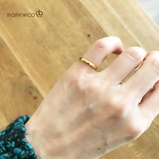 4号サイズ ステンレス製 つやつやイエローゴールドリング幅2.2mm指輪(リング(指輪))