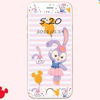 ディズニー(Disney)の日本未発売iPhone  画面保護 ステラルー  強化ガラス  デニム(保護フィルム)