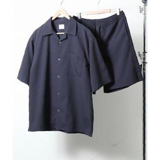 コーエン(coen)の【美品 メンズL】UVカットオープンカラーシャツサマーセットアップ【coen】 (シャツ)