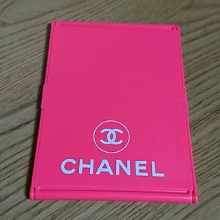 CHANEL - ロゴ*折りたたみミラー(ピンク)