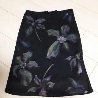 アクサラ(AXARA)の美品 花柄スカート アクサラ(ひざ丈スカート)