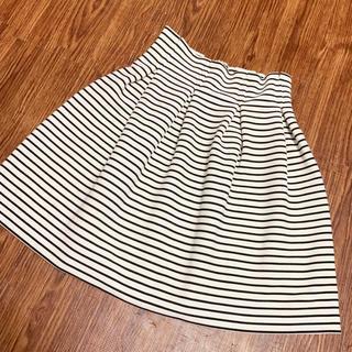 マーキュリーデュオ(MERCURYDUO)のmercuryduo♡タックボーダースカート 新品未使用(ミニスカート)