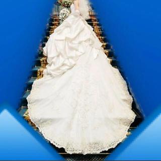 ウエディングドレス ロングトレーン  7〜11号サイズ(ウェディングドレス)