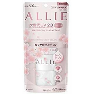 アリィー(ALLIE)のアリィーエクストラUVハイライトジェル桜の香りSPF50+/PA++++(日焼け止め/サンオイル)
