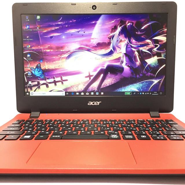 Acer(エイサー)の☆お洒落☆小型軽量 Acer ES1-131 フェリックレッド スマホ/家電/カメラのPC/タブレット(ノートPC)の商品写真