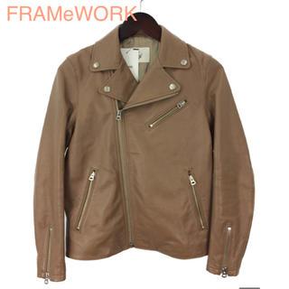 フレームワーク(FRAMeWORK)の最終値下!FRAMeWORK ¥48,600 ラムレザー ライダースジャケット (ライダースジャケット)