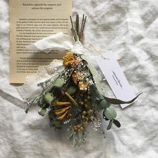 黄色いお花さんたちとユーカリさんのスワッグ(ドライフラワー)
