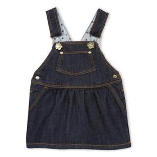 プチバトー(PETIT BATEAU)の36m◎デニムジャンパースカート(ワンピース)