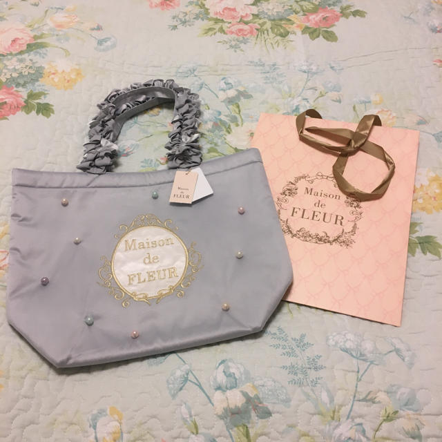 Maison de FLEUR(メゾンドフルール)のゆきだるま様ご専用 ・完売 メゾンドフルール刺繍ロゴチュールトートバッグ レディースのバッグ(トートバッグ)の商品写真