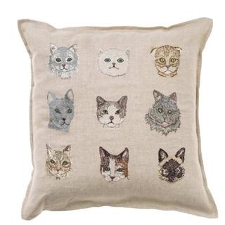 アッシュペーフランス(H.P.FRANCE)のCORAL&TUSK  CATS PILLOWクッション (クッション)