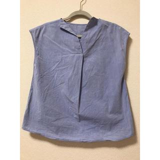 ジーユー(GU)のGU ブルー ブラウス(シャツ/ブラウス(半袖/袖なし))