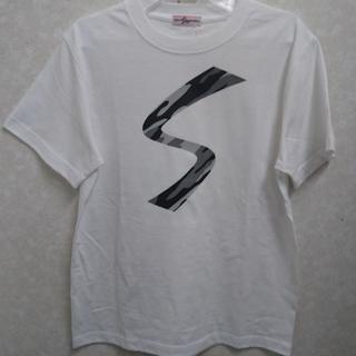 久保田スラッガー - 久保田スラッガーコットンTシャツ Sロゴ ホワイト/カモ Mサイズ