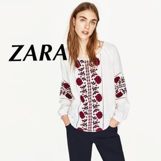 ザラ(ZARA)のZARA 新品 刺繍ブラウス(シャツ/ブラウス(長袖/七分))