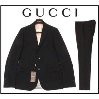 reputable site 50bad bd039 新品40万 ◆44C=XS◆GUCCI グッチ ブラックウールスーツ