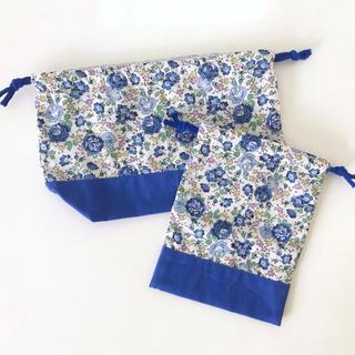 ボンポワン(Bonpoint)の輸入リバティ フェリシテ お弁当袋・コップ袋(ランチボックス巾着)