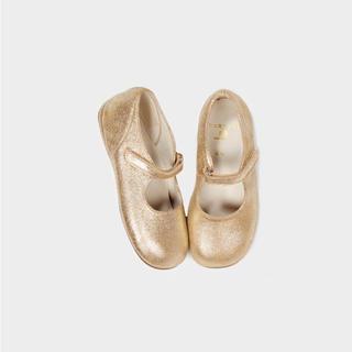 キャラメルベビー&チャイルド(Caramel baby&child )のcaramel pepe shoes gold サイズ22(フラットシューズ)
