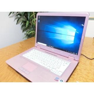 エヌイーシー(NEC)の【マロン様専用】美品☆可愛いピンクのLL550TG DVD(ノートPC)