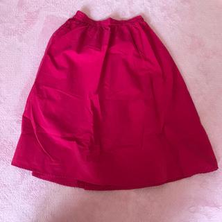ジーユー(GU)のgu♡スカート♡ピンク♡ミモレ(ひざ丈スカート)