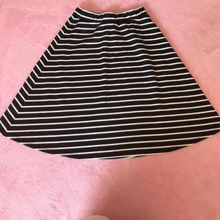 シマムラ(しまむら)のミモレ♡スカート♡ボーダー♡(ひざ丈スカート)