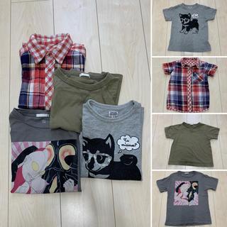 ジーユー(GU)のkids 半袖 4枚セット(Tシャツ/カットソー)