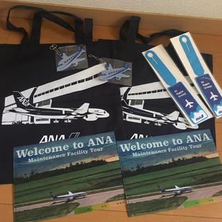 エーエヌエー(ゼンニッポンクウユ)(ANA(全日本空輸))のANA非売品セット2組 トートクリアファイル他(その他)