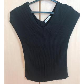 ナチュラルクチュール(natural couture)のnatural couture ❀ ノースリーブニット ブラック(タンクトップ)