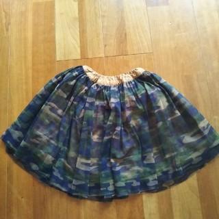 ブリーズ(BREEZE)の♡BREEZE♡迷彩チュールスカート size100(スカート)