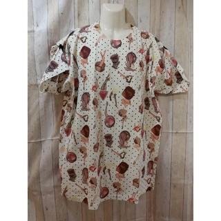 アチャチュムムチャチャ(AHCAHCUM.muchacha)のあちゃちゅむ×Q-pot コラボ ビッグTシャツ ワンピにも(Tシャツ(半袖/袖なし))