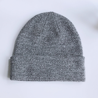 エイチアンドエム(H&M)のエイチアンドエム MIXニット帽 グレー(ニット帽/ビーニー)