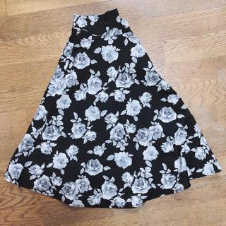 セシール(cecile)の【美品】花柄 ロング スカート(ロングスカート)