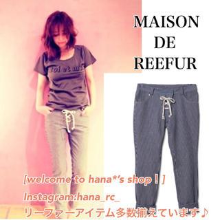 メゾンドリーファー(Maison de Reefur)のメゾンドリーファー  ヒッコリーストライプパンツ サブリナパンツ(カジュアルパンツ)