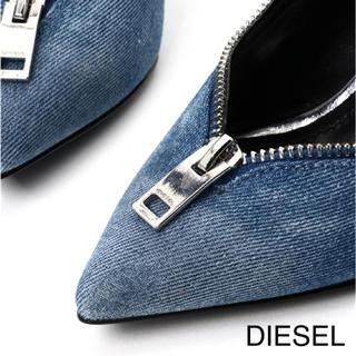 ディーゼル(DIESEL)の[新品] DIESEL OFFBEAT HEELS D-ELISAH ZIP(ハイヒール/パンプス)