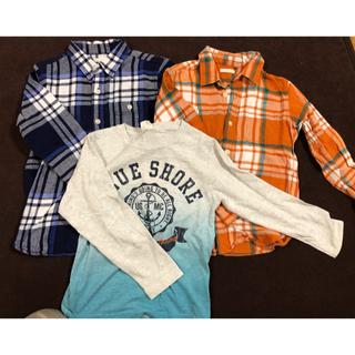 ジーユー(GU)のgu 120 チェックシャツ2枚セット(ブラウス)