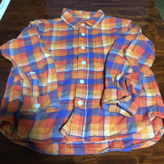 ジーユー(GU)の110㎝ GU ネルシャツ(Tシャツ/カットソー)